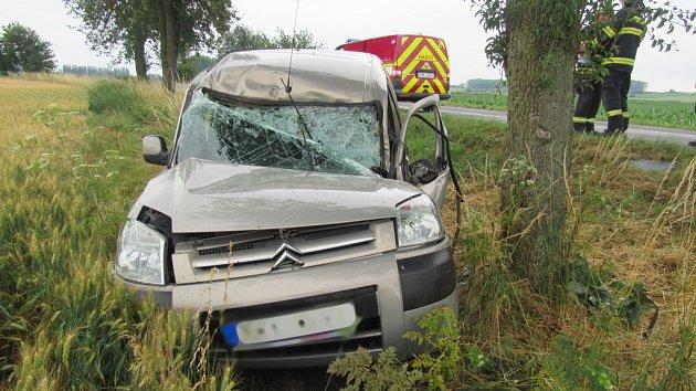 Havárie osobního automobilu uSkalice.