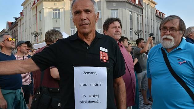 Masarykovo náměstí v Hradci Králové si připomnělo výročí invaze vojsk Varšavské smlouvy do Československa.