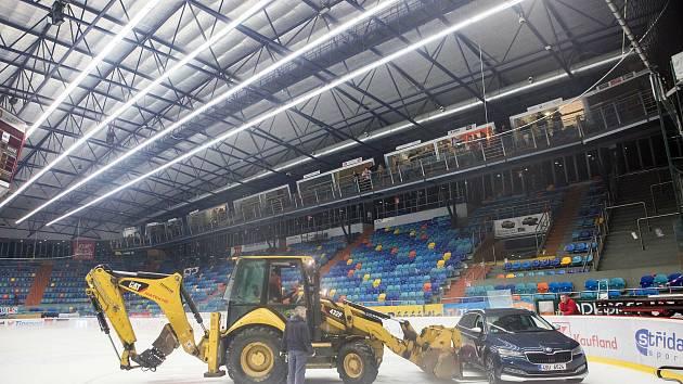 Hokejový stadion v Hradci Králové