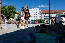 Graffiti Street Jam na královéhradeckém Ulrichově náměstí.
