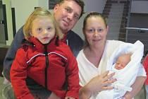 KRISTÝNA NĚMCOVÁ přišla na svět 13. října v 18.19 hodin. Měřila rovných 50 centimetrů a vážila 3150 gramů. Z miminka má radost maminka Kateřina, tatínek Jiří a sestra Kateřina ze Sedlice.