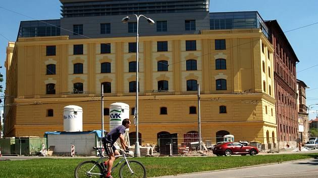 Rozestavěný pivovar - budoucí sídlo krajského úřadu