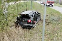 Dopravní nehoda dvou osobních automobilů u odbočky do Roudnice na silnici I/11 mezi Hradcem Králové a Chlumcem nad Cidlinou.