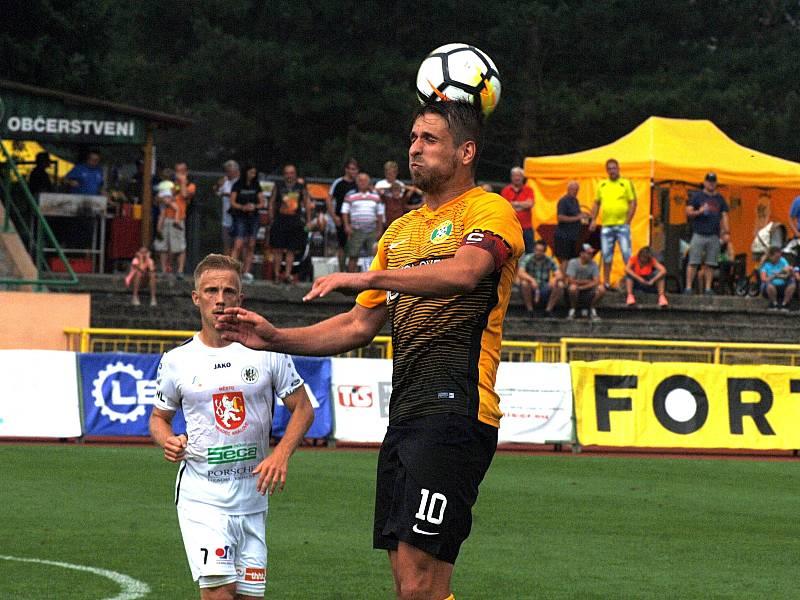 Fotbalová FORTUNA:NÁRODNÍ LIGA: FK Baník Sokolov - FC Hradec Králové.