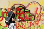 Graffiti Street Jam na Ulrichově náměstí v Hradci Králové.