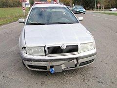 Dopravní nehoda dvou osobních automobilů v Třebechovicích pod Orebem.