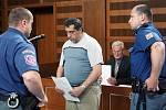 Ladislav Pešta, obžalovaný z pokusu o vraždu, před královéhradeckým soudem v úterý 3. května 2010.