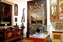Městské muzeum v Novém Bydžově - levý roh přísálí.