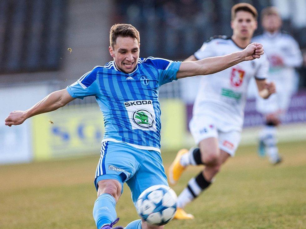 Pohárové čtvrtfinále fotbalového MOL Cupu: FC Hradec Králové - FK Mladá Boleslav.