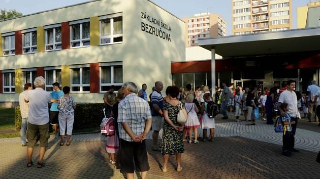 První školní den v Hradci Králové.