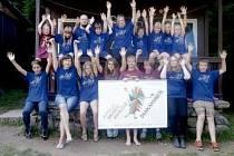 Děti ze sdružení Diakamínek na letním táboře ve Svojanově.