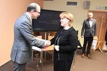 Z vyhlášení výsledků krajského kola soutěže Zlatý erb 2018: ocenění pro Lovčice.