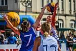 Basket bavil v Hradci Králové na náměstí.