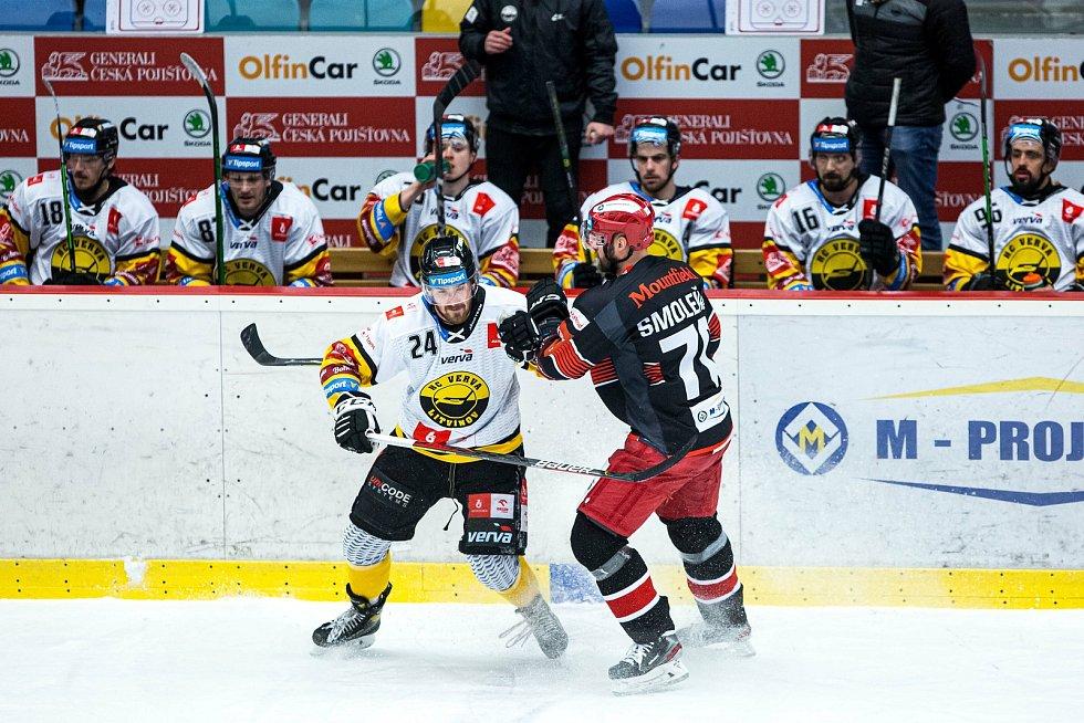 Generali play off Tipsport extraligy - osmifinále: Mountfield HK - HC Verva Litvínov.
