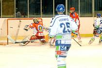 Krajská hokejová liga: Hronov - Třebechovice pod Orebem.