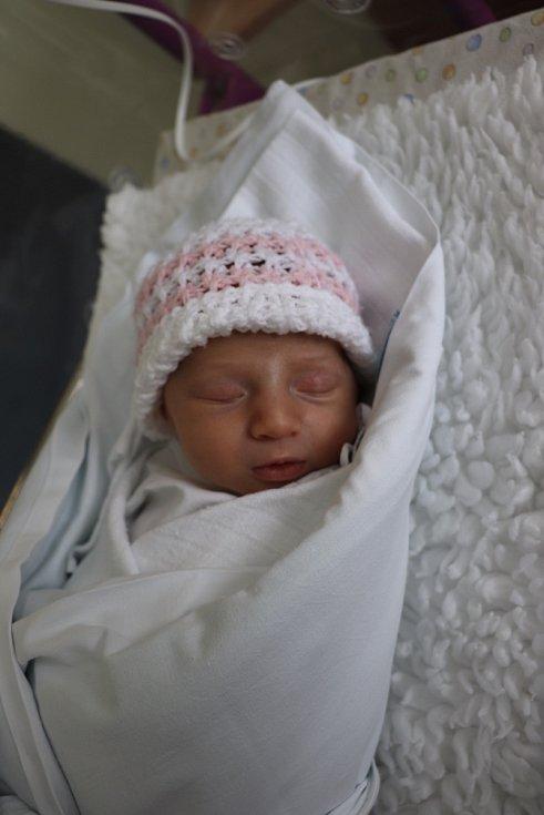ALŽBĚTA MAŘÍKOVÁ poprvé spatřila světlo světa 21. července v 6.35 hodin. Měřila 47 cm a vážila 2760 g. Největší radost udělala svým rodičům Renatě a Janu Maříkovým z Hradce Králové.
