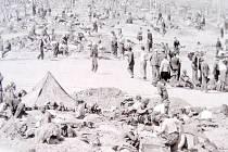 Americký zajatecký tábor v Sinzigu-Remagenu.
