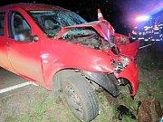 Havárie osobního automobilu v Krňovicích.