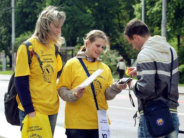 V krajské metropoli studenti prodávali květiny, jejichž výtěžek pomůže v boji proti rakovině.