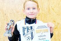 Nejlepší brankář turnaje: Michal Drábek z domácí Vysoké nad Labem.