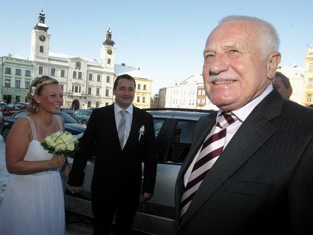 Václav Klaus v Hradci Králové.