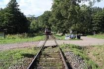 Nehoda na železničním přejezdu, naštěstí bez tragických následků.