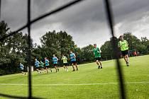 Trénink fotbalistů FC Hradec Králové v rámci letní přípravy.
