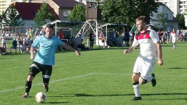 Fotbalový krajský přebor: TJ Sokol Třebeš - TJ Jiskra Hořice.