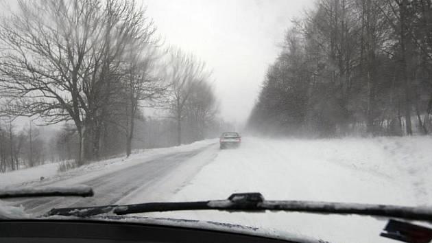 Sněhová kalamita v Hradci Králové, sobota 9. ledna 2010.