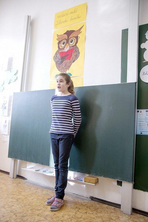Recitační soutěž Libčanská básnička.