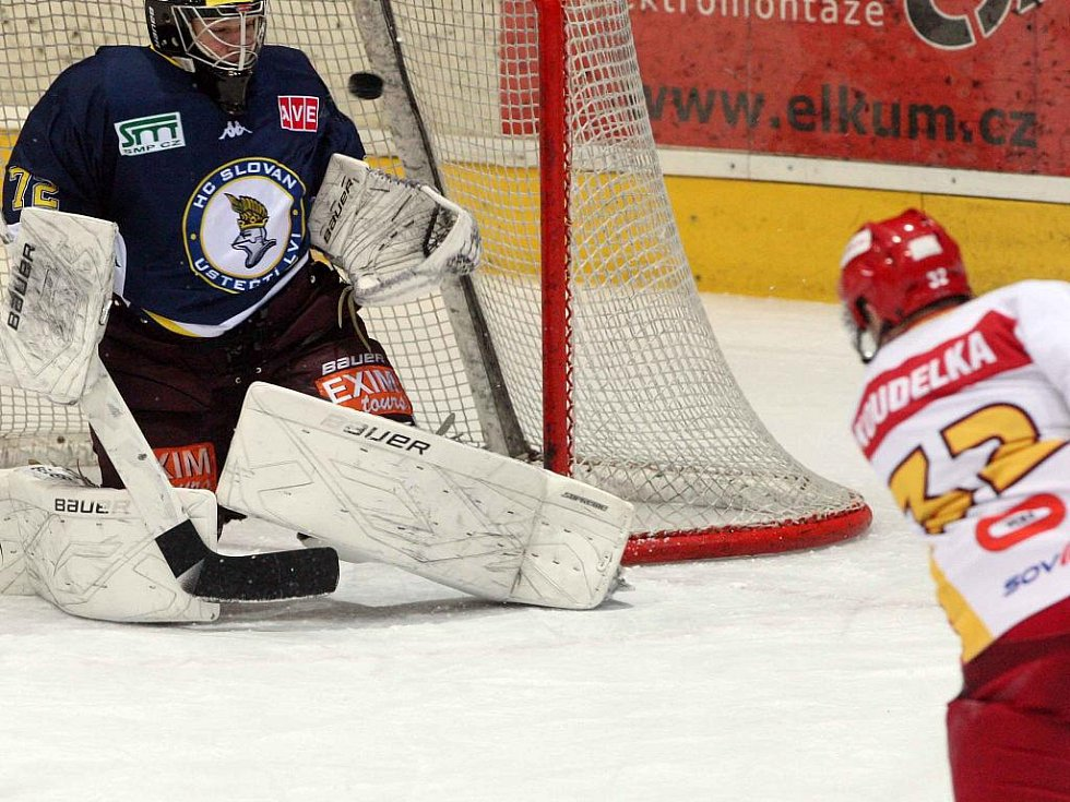 I. hokejová liga: HC VCES Hradec Králové - HC Slovan Ústečí Lvi.
