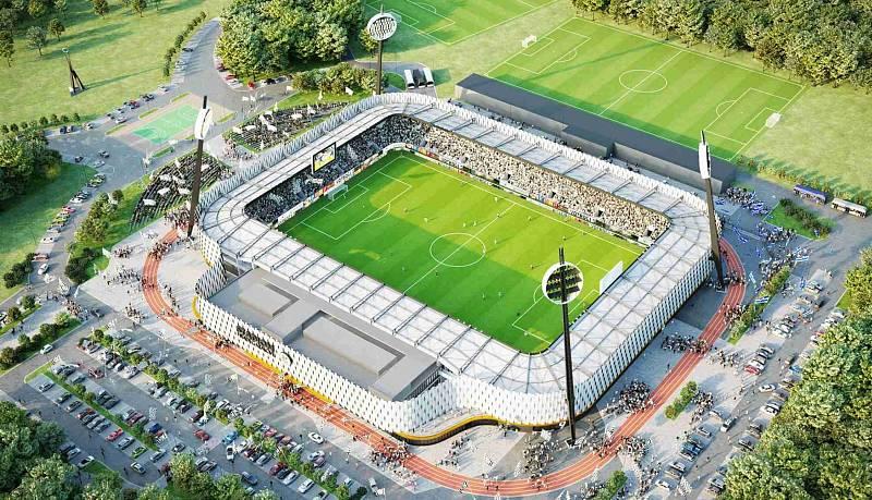 S NOVÝM STADIONEM by klub FC Hradec Králové měl převzít i nový majitel. Nová aréna má být dokončena v roce 2023.