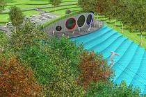 Návrh nové podoby kopce Rozárka v Hradci Králové