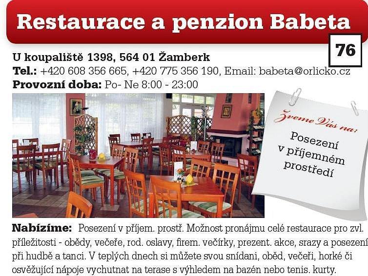 Restaurace a penzion Babeta