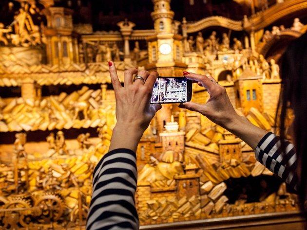 Proboštův betlém v Třebechovickém muzeu betlémů.