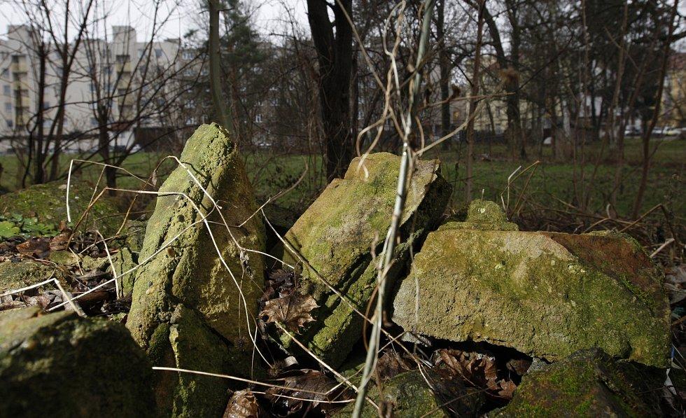 Místo v centru Hradce Králové, kde má vzniknout park Skleněnka.