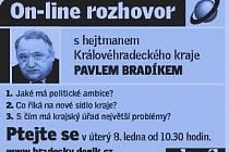 On-line rozhovor s hejtmanem Pavlem Bradíkem