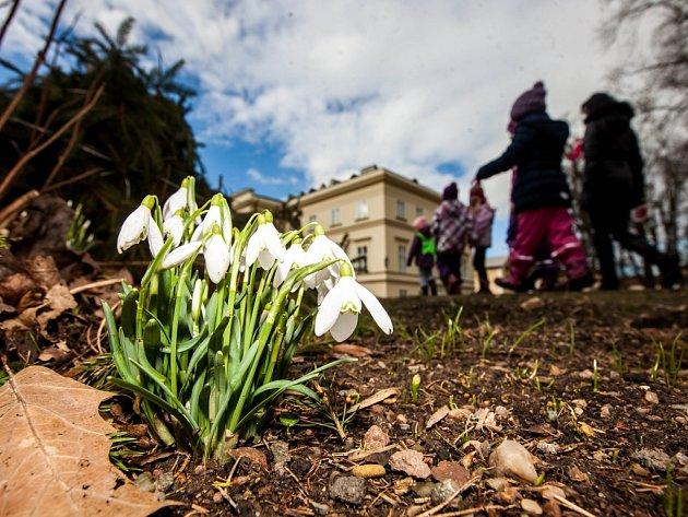 Jarní úklid v okolí zámku v Kostelci nad Orlicí.