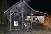 Požár zahradního domku u Nepolis.