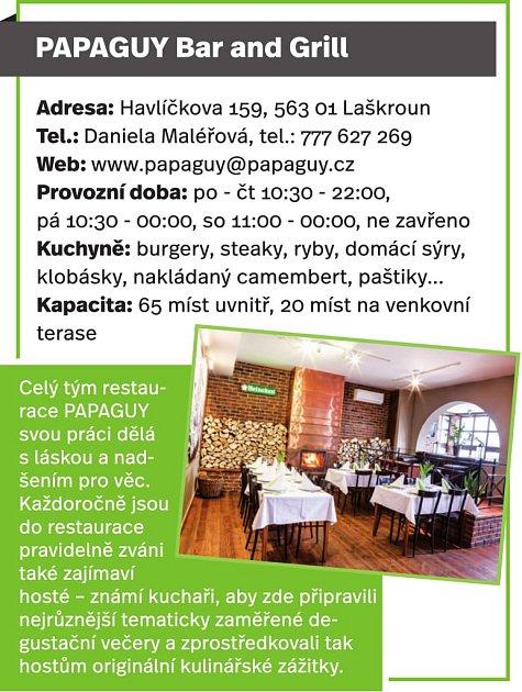 PAPAGUY Bar nad Grill, Lanškroun