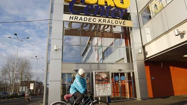 Obchodní zóna EuroCenter v Hradci Králové.