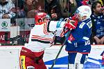 Čtvrtfinále play off hokejové extraligy: Mountfield HK - HC Kometa Brno.