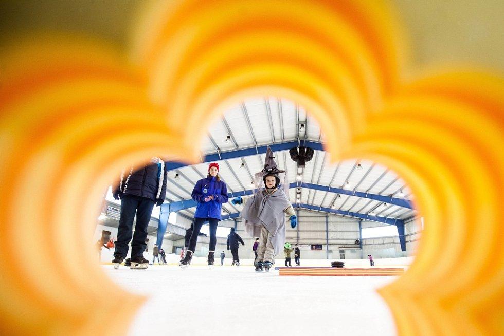 Masopustní rej na ledě na zimním stadionu v Hradci Králové.