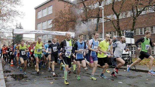 Běh městem v Hradci Králové.