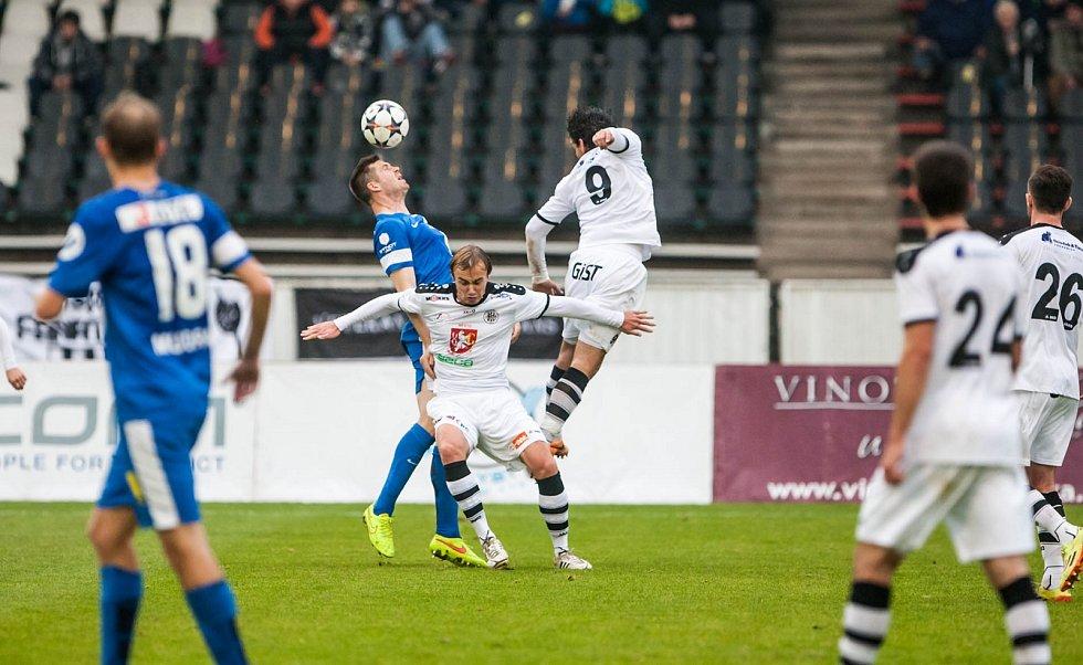Fotbalová Synot liga: FC Hradec Králové - FC Slovan Liberec.