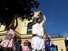 Open air program mezinárodního festivalu Divadlo evropských regionů v Hradci Králové.