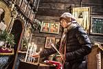 Pravoslavné Vánoce v kostelíku sv. Mikuláše v královéhradeckých Jiráskových sadech.