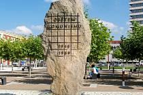 Socha Jana Wagnera na královéhradeckém Riegrově náměstí.