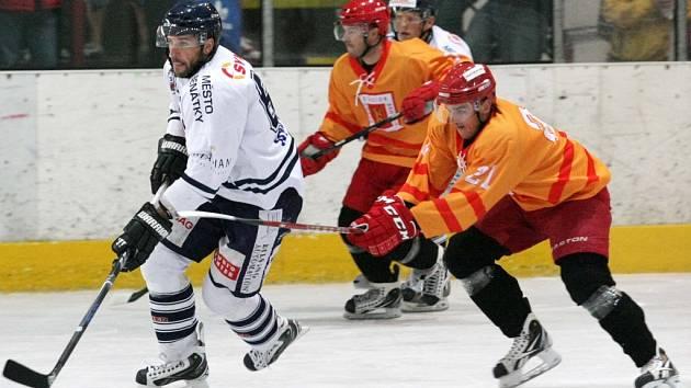 Hokejová příprava: Královští lvi Hradec Králové - HC Benátky nad Jizerou.