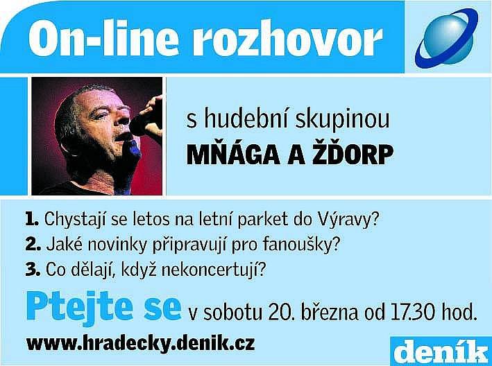 On-line rozhovor s hudební skupinou Mňága a žďorp.